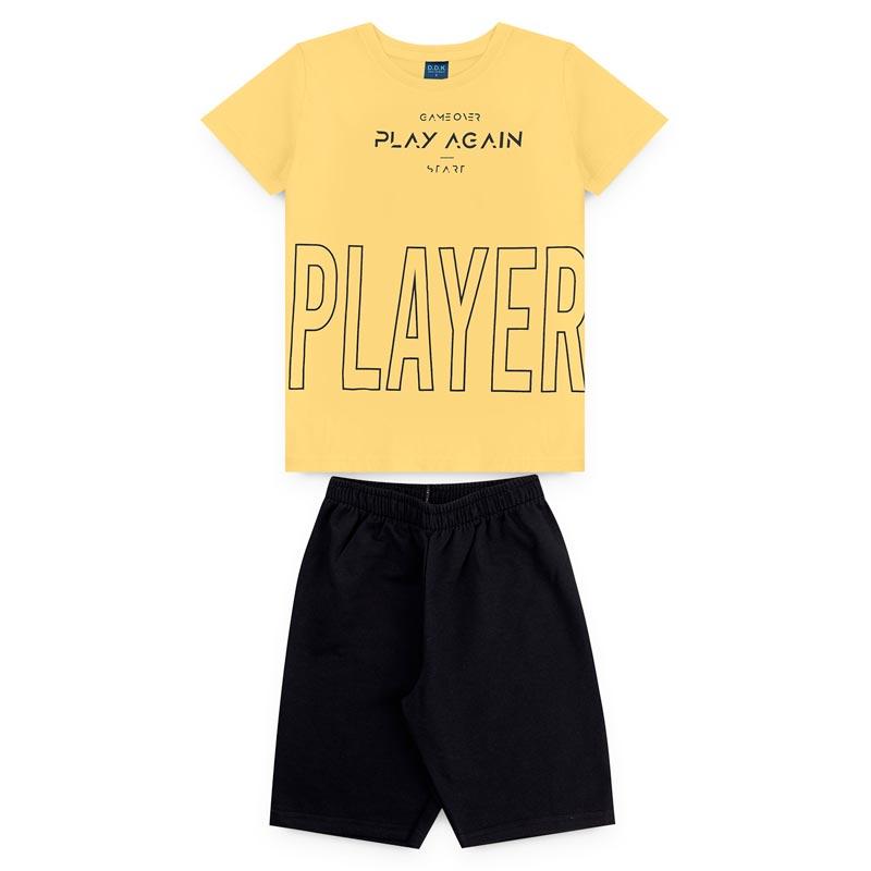 Conjunto DDK Infantil Menino Player Amarelo