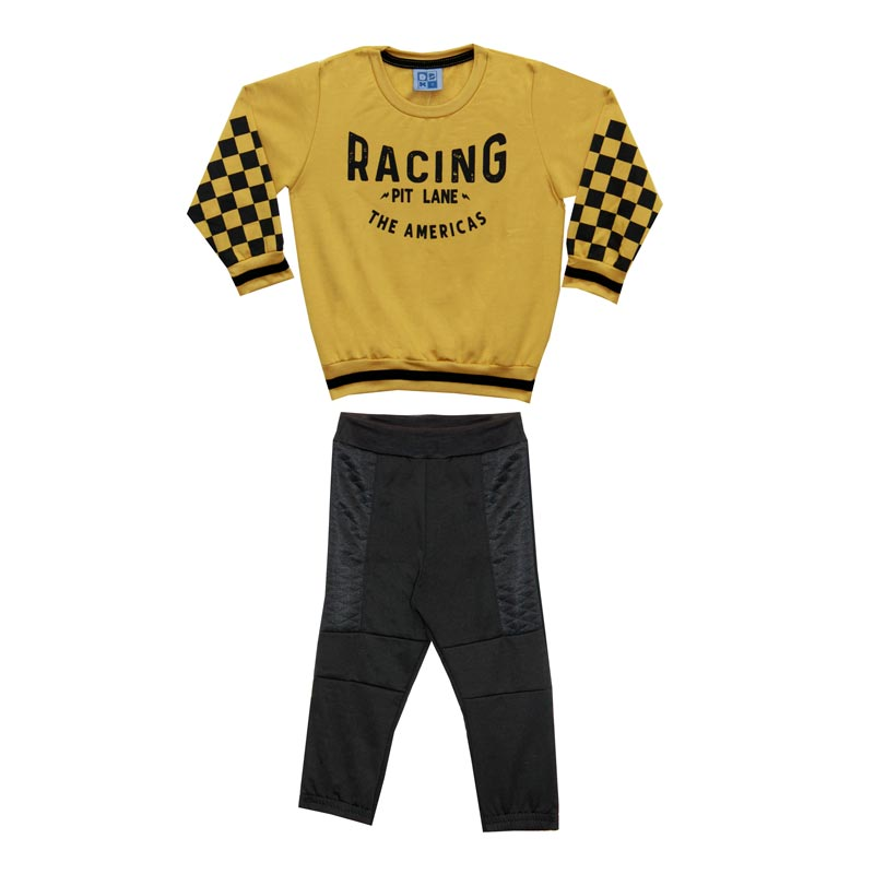 Conjunto DDK Infantil Menino Racing Amarelo