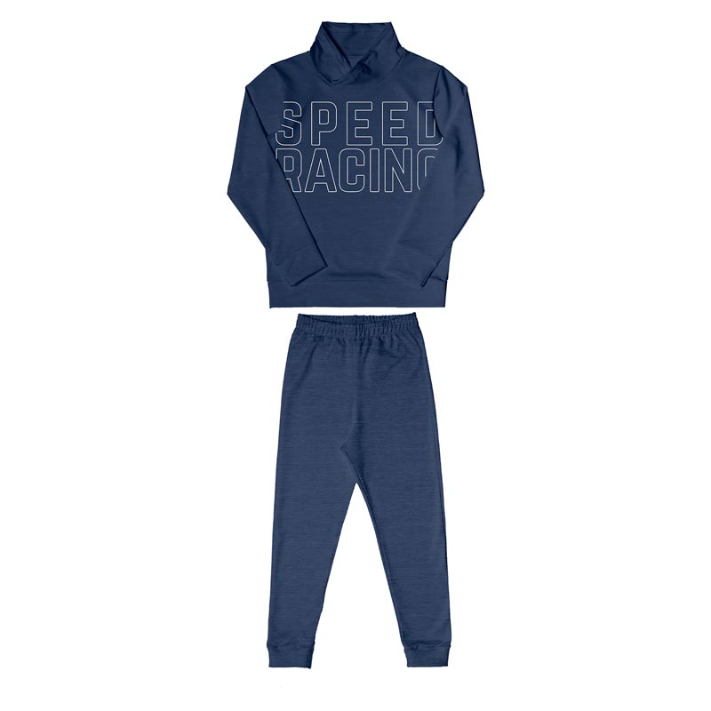 Conjunto DDk Infantil Menino Racing Azul