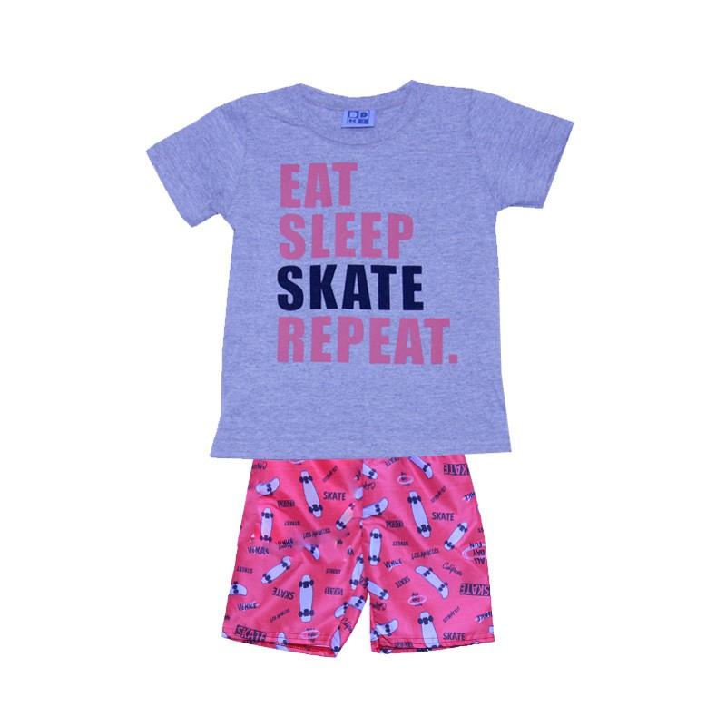 Conjunto DDK Infantil Menino Skate Cinza