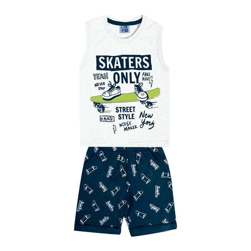 Conjunto DDK Infantil Menino Skaters Branco