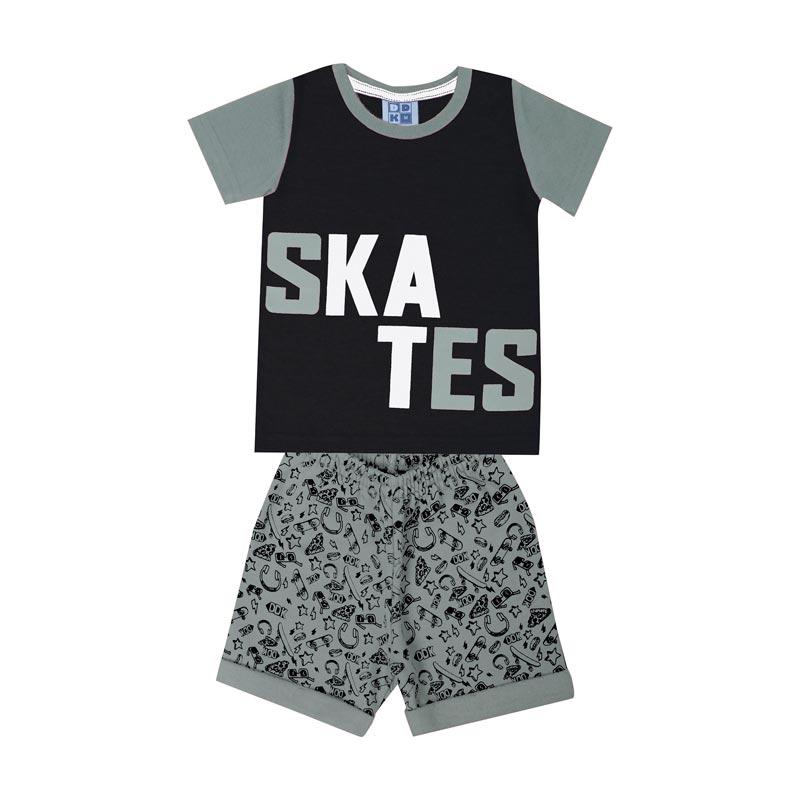Conjunto DDK Infantil Menino Skates Preto