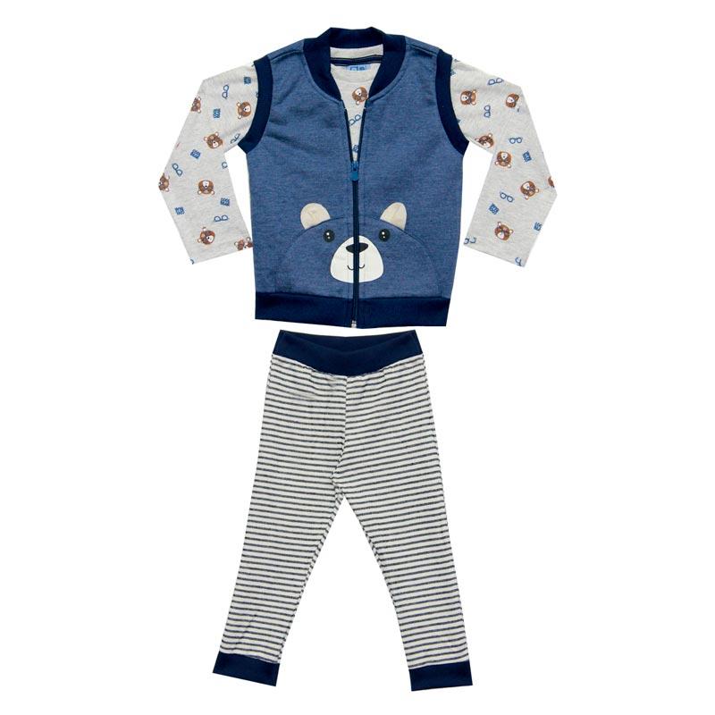 Conjunto DDK Infantil Menino Ursinho Azul