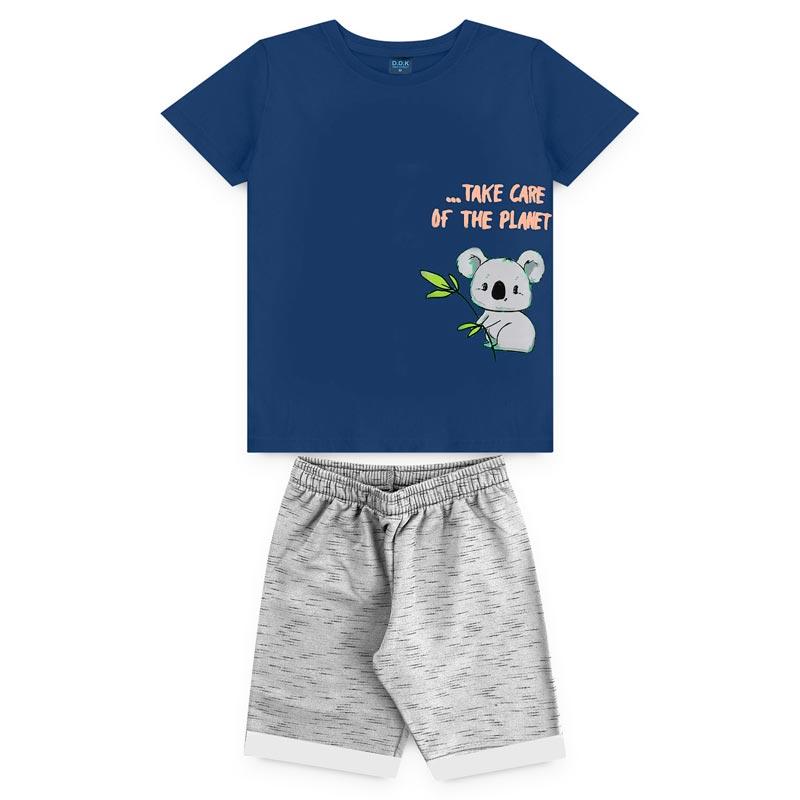 Conjunto DDK infantil Menino Urso Azul