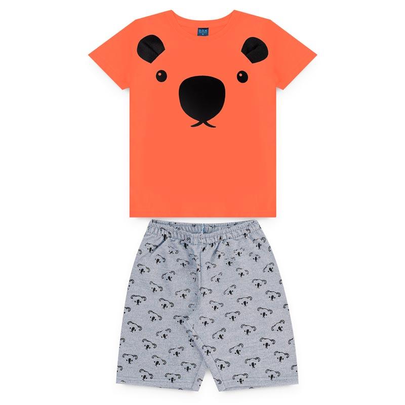 Conjunto DDK infantil Menino Urso Laranja