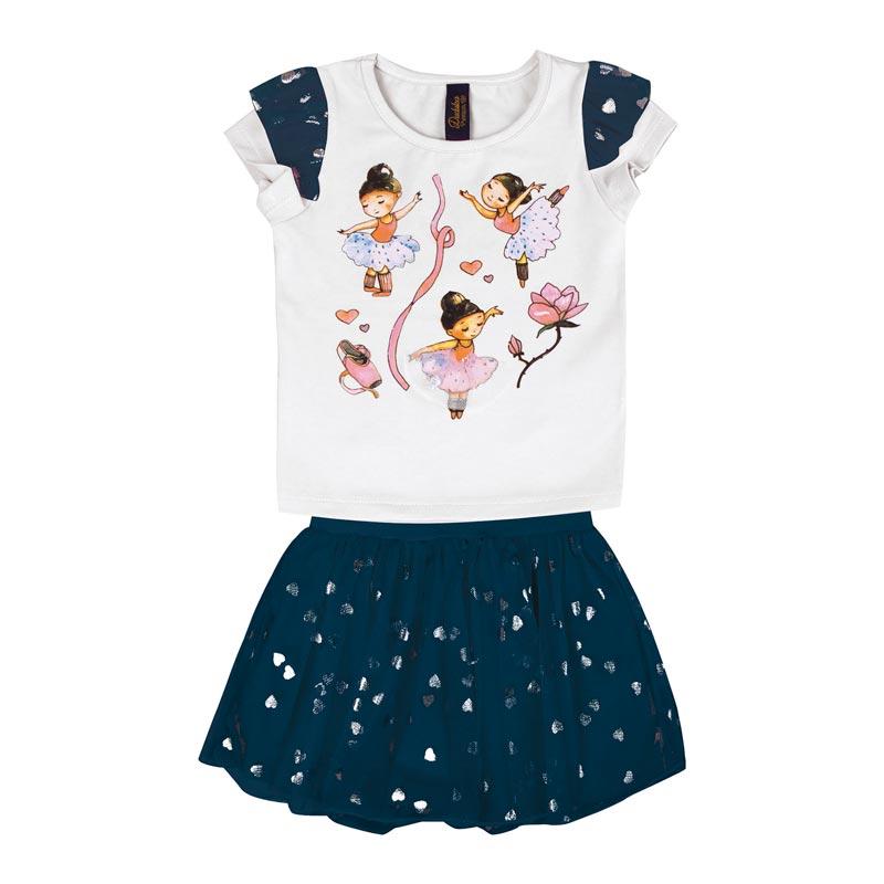 Conjunto Duduka Infantil Menina Bailarina Branco