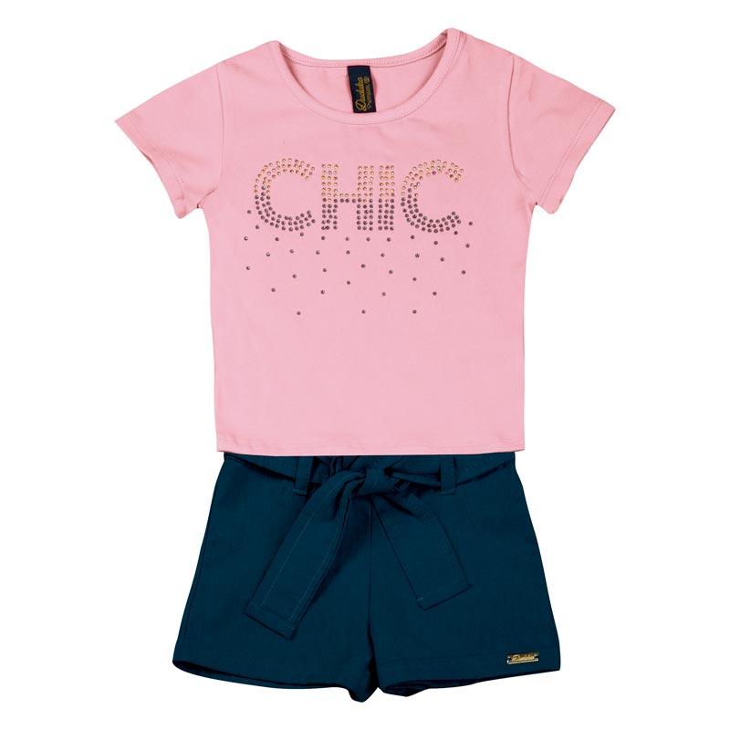 Conjunto Duduka Infantil Menina Chic Rosa