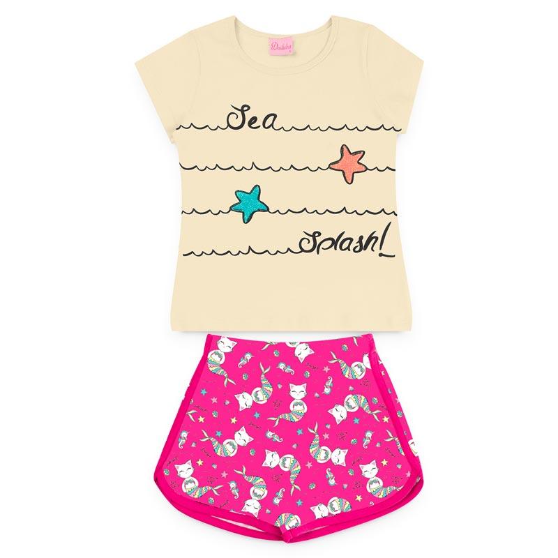 Conjunto Duduka Infantil Menina Estrela Amarelo