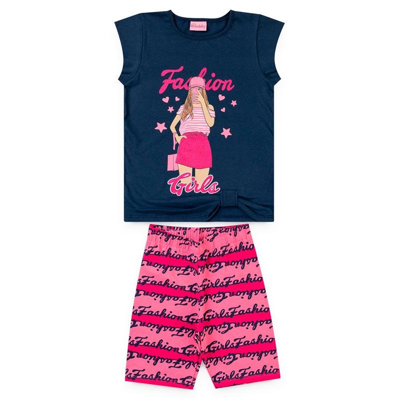Conjunto Duduka Infantil Menina Fashion Azul