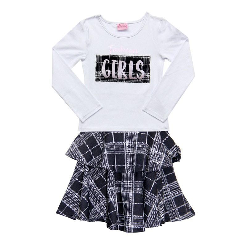 Conjunto Duduka Infantil Menina Girl Branco