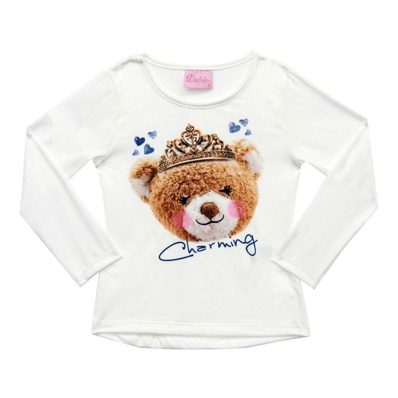 Conjunto Duduka Infantil Menina Urso Bege