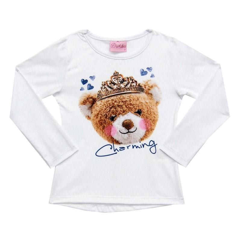 Conjunto Duduka Infantil Menina Urso Branco