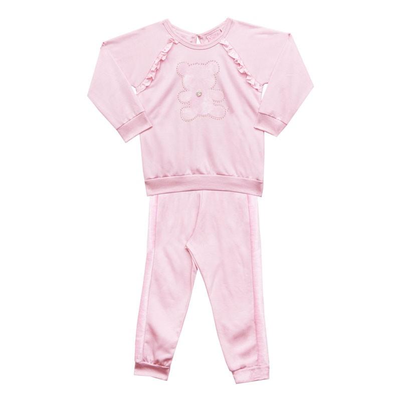 Conjunto Duduka Infantil Menina Urso Rosa