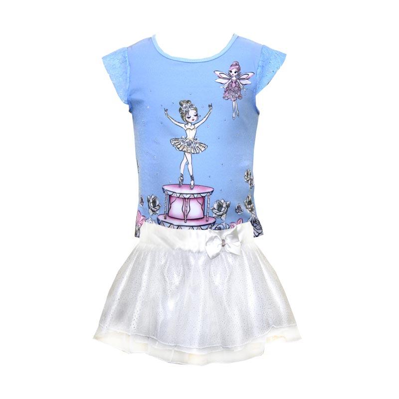 Conjunto Infantil Menina Bailarina  Azul