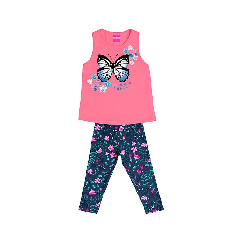 Conjunto Infantil Menina Borboleta Rosa