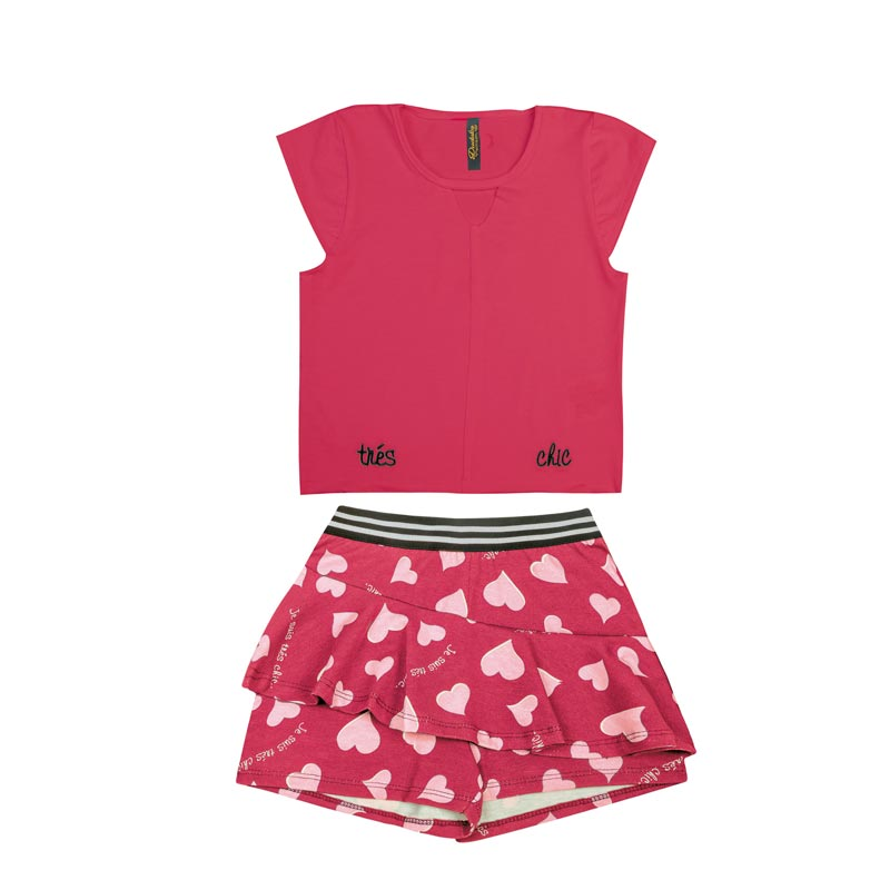 Conjunto Infantil Menina Chic Rosa