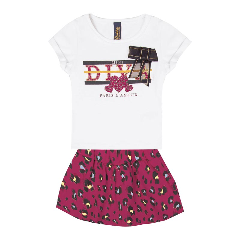 Conjunto Infantil Menina Diva Rosa