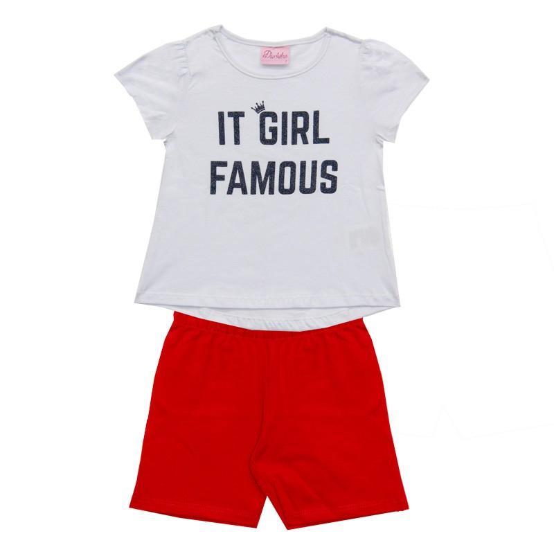 Conjunto Infantil Menina Girl Branco