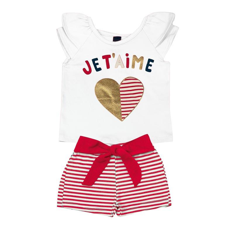 Conjunto Infantil Menina Jet'aime Branco