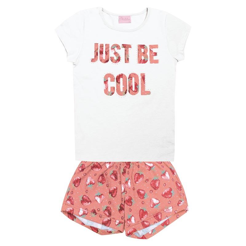Conjunto  Duduka Infantil Menina Just Be Cool Branco