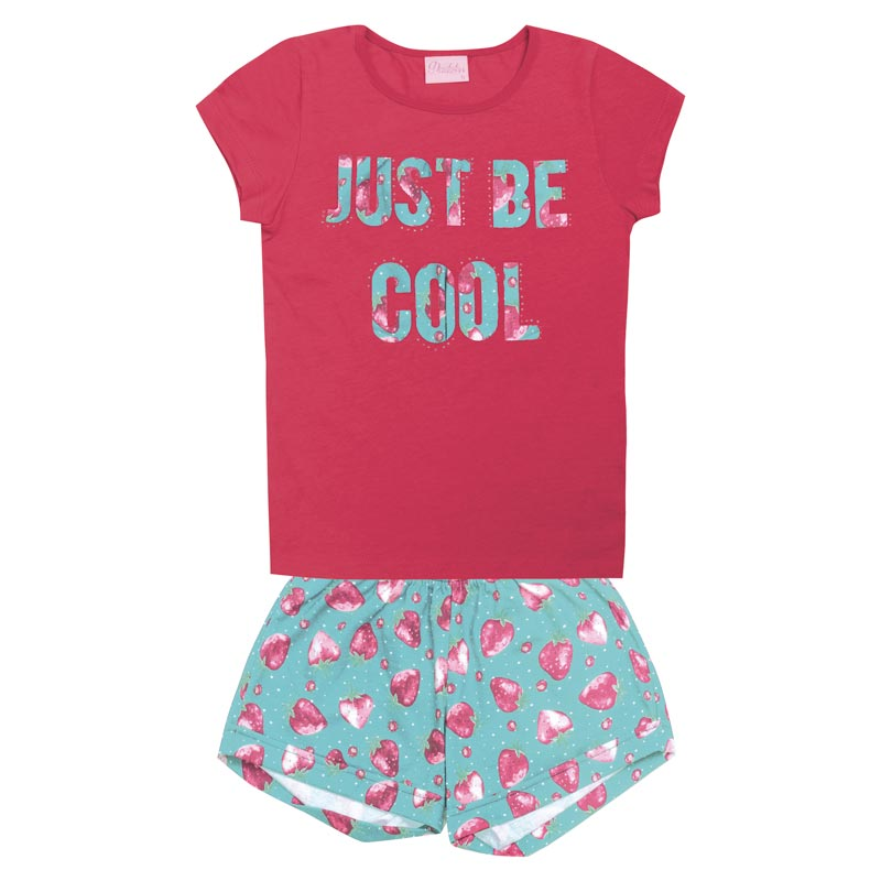 Conjunto  Duduka Infantil Menina Just Be Cool Rosa