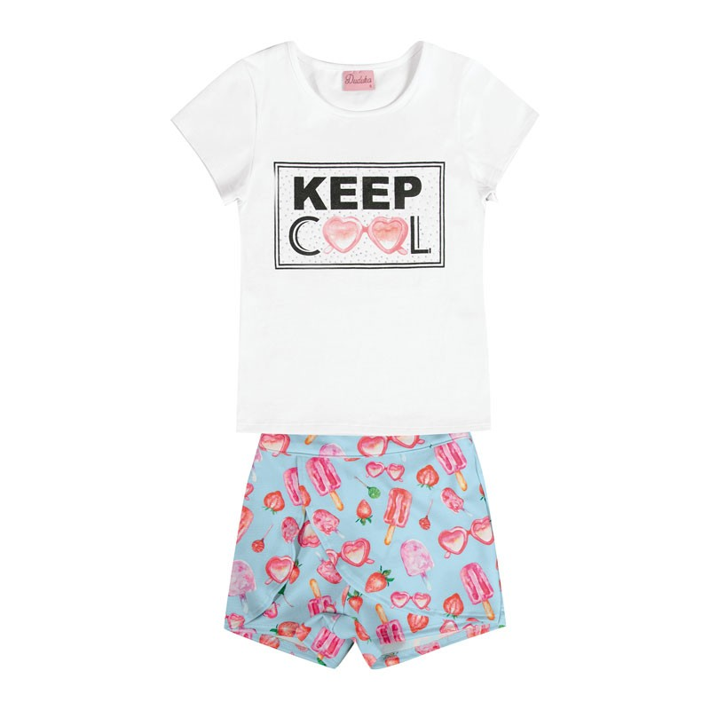 Conjunto Infantil Menina Keep Cool Branco