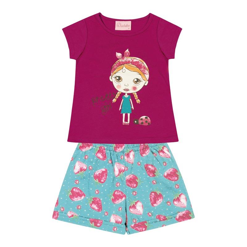Conjunto Infantil Menina Pretty Girl Rosa