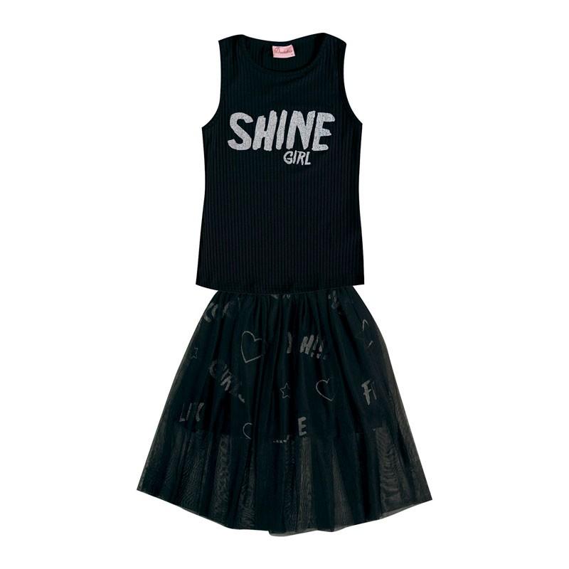 Conjunto Infantil Menina Shine Preto
