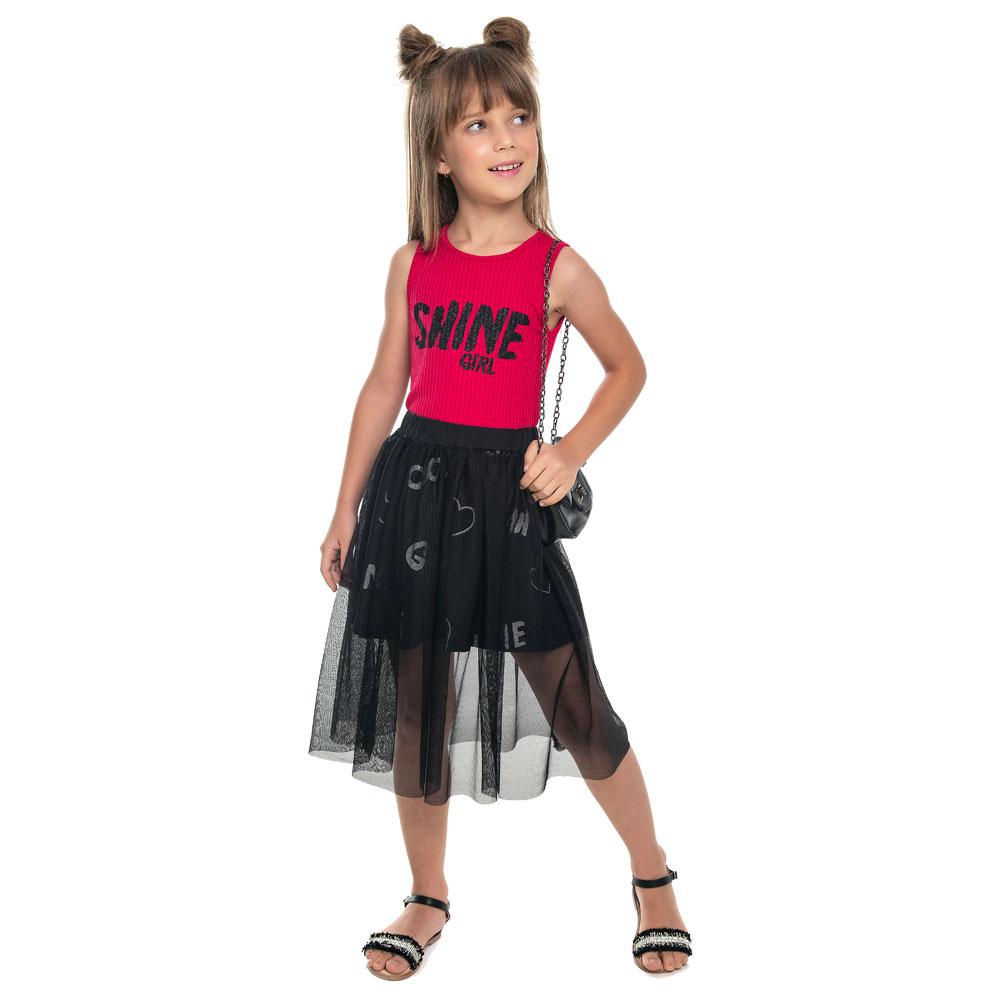 Conjunto Infantil Menina Shine Rosa