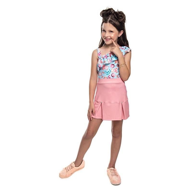 Conjunto Infantil Menina Ursinho Azul