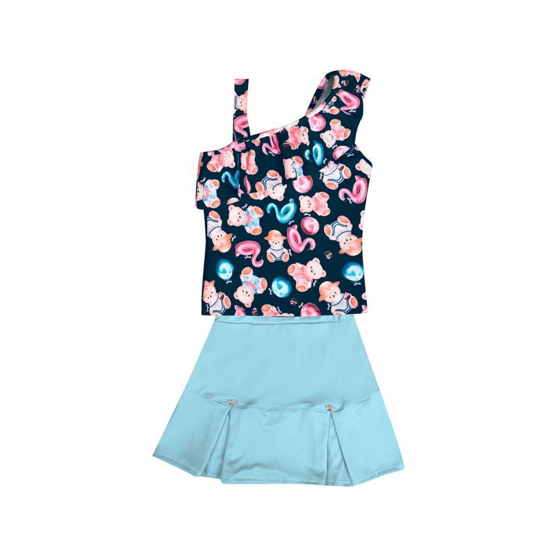 Conjunto Infantil Menina Ursinho Azul Marinho
