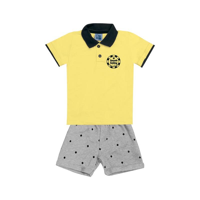 Conjunto Infantil Menino  Amarelo