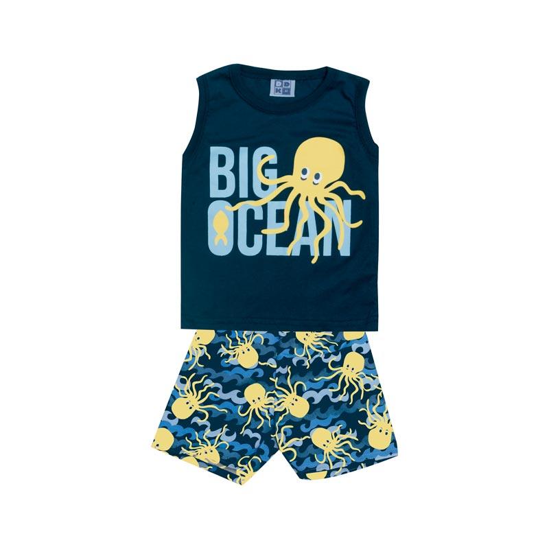 Conjunto DDK Infantil Menino Big Ocean Azul