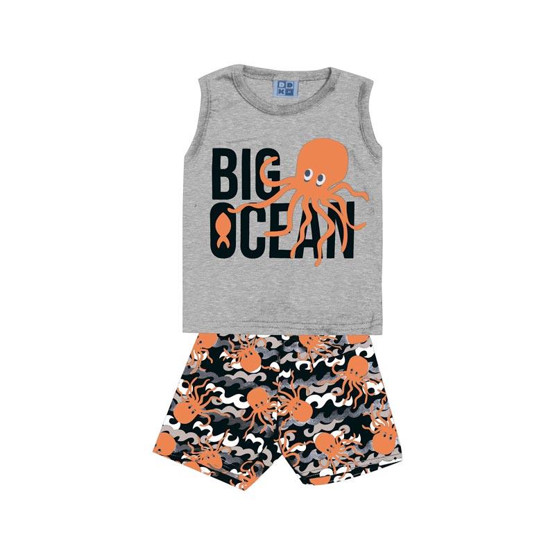 Conjunto DDK Infantil Menino Big Ocean Cinza