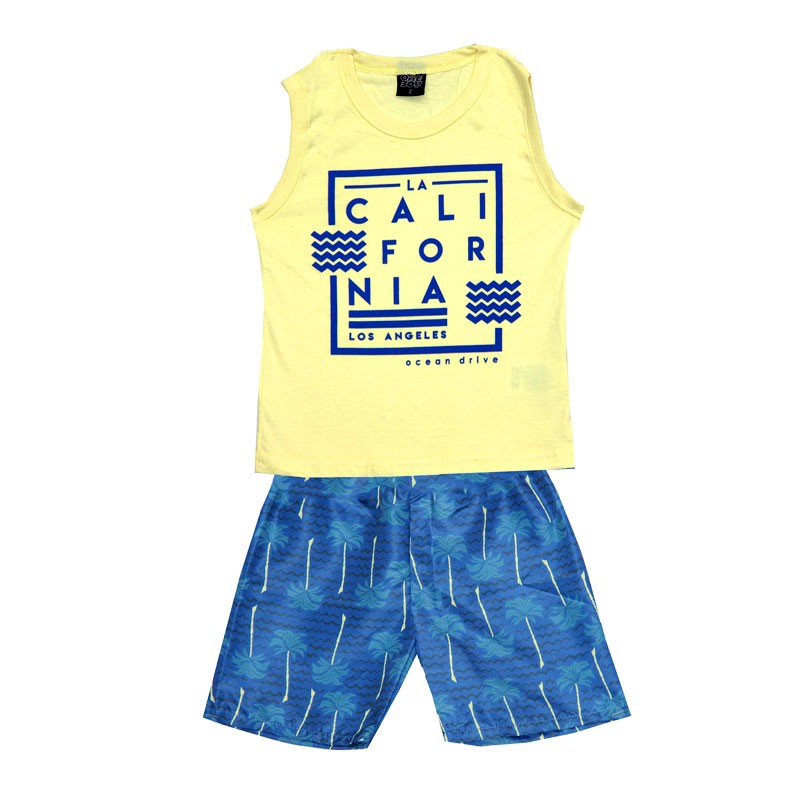 Conjunto Infantil Menino Califórnia Amarelo