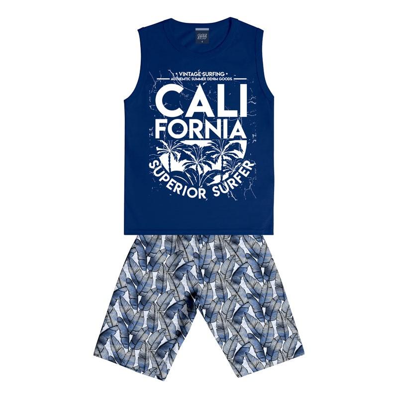 Conjunto Infantil Menino Califórnia Azul
