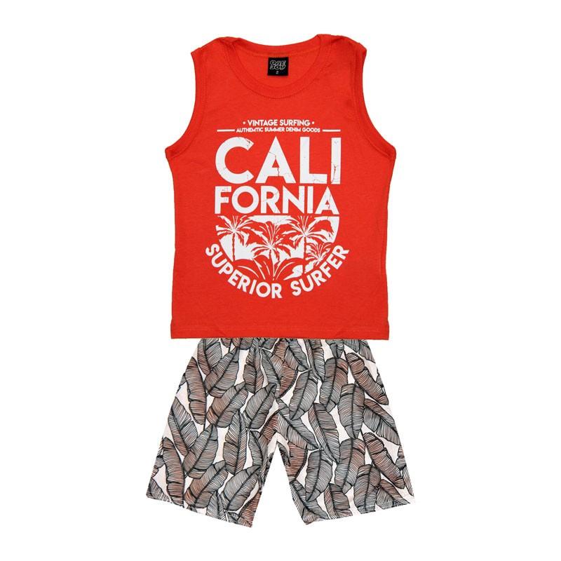 Conjunto Infantil Menino Califórnia Laranja