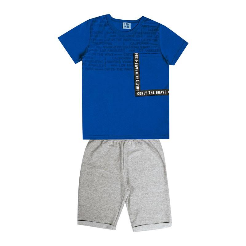 Conjunto Infantil Menino com Bolso Azul