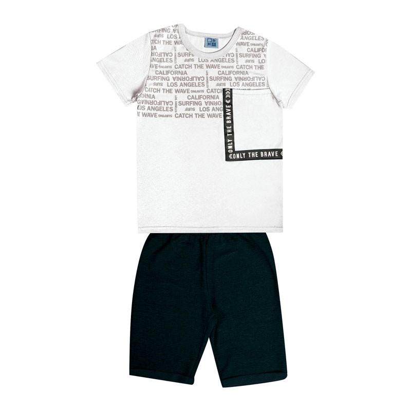 Conjunto Infantil Menino com Bolso Branco