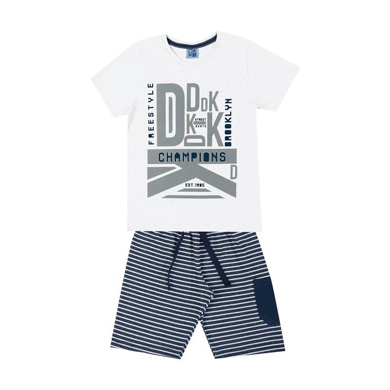 Conjunto Infantil Menino DDK Branco