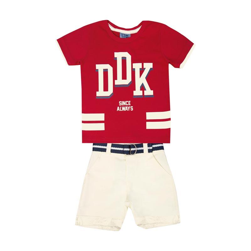 Conjunto Infantil Menino DDK Vermelho