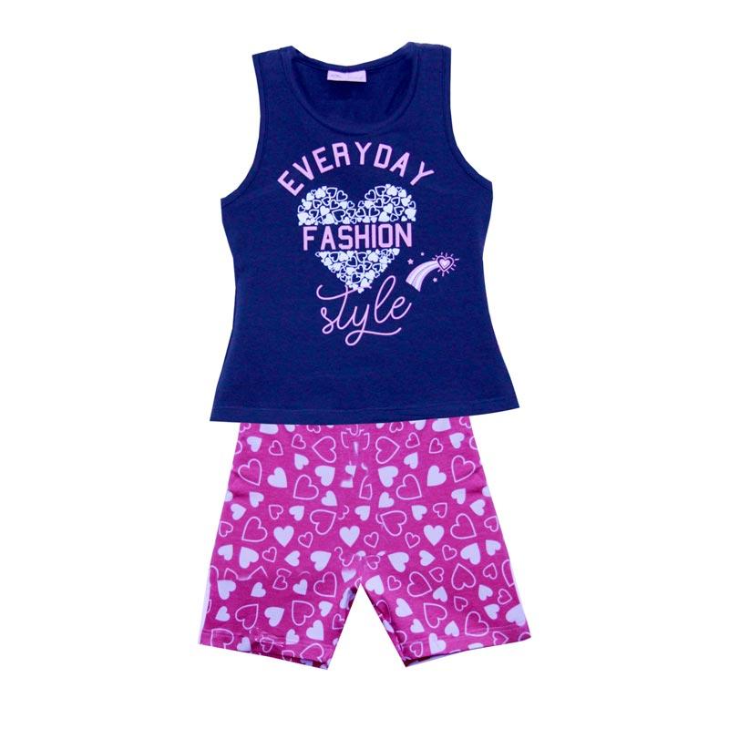 Conjunto  Infantil Menino Fashion Azul