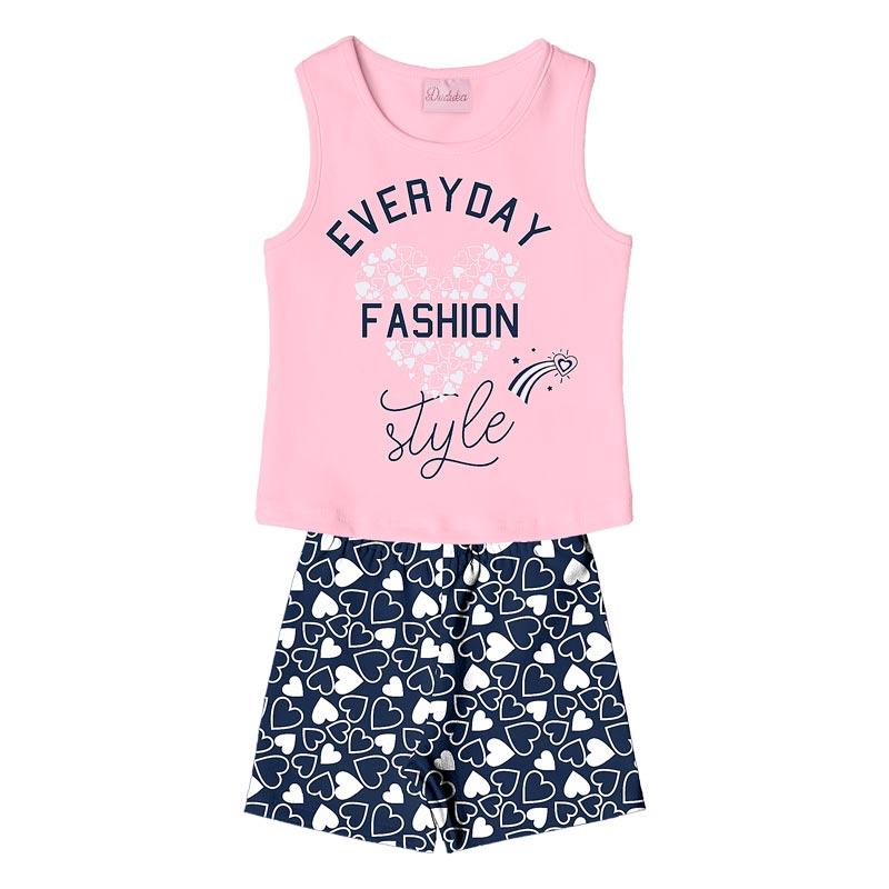 Conjunto  Infantil Menino Fashion Rosa