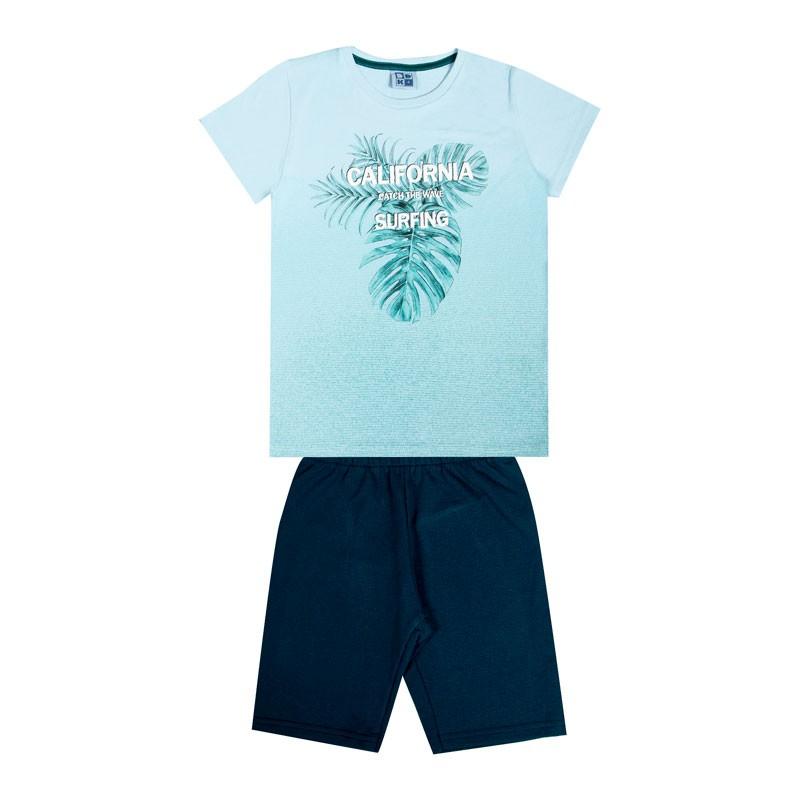 Conjunto Infantil Menino Folhas Azul