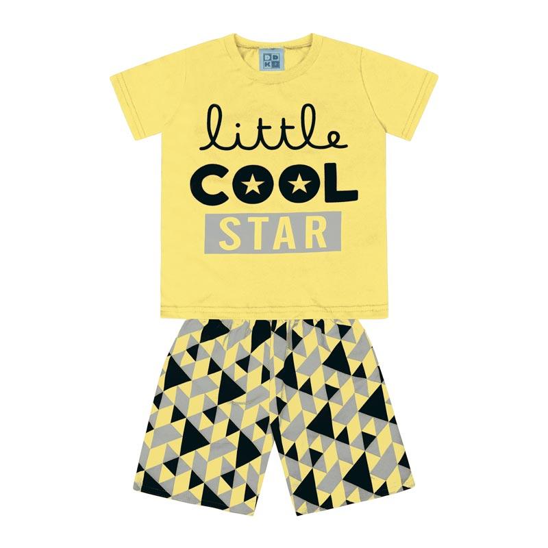Conjunto DDK Infantil Menino Little Cool Star Amarelo
