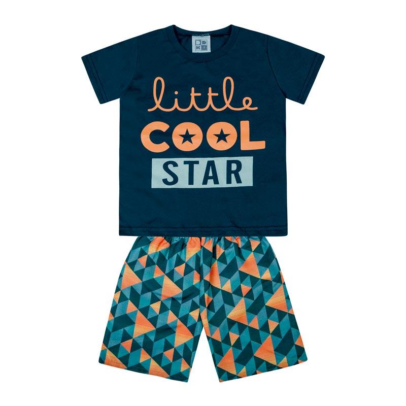 Conjunto Infantil Menino Little Cool Star Azul
