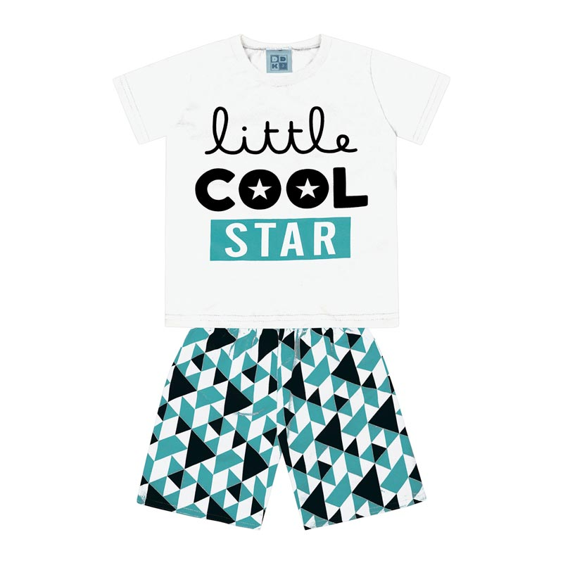 Conjunto Infantil Menino Little Cool Star Branco