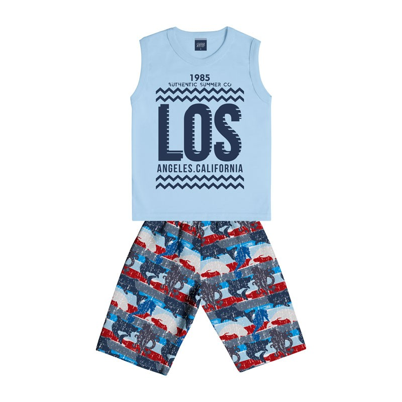 Conjunto Infantil Menino Los Angeles Azul