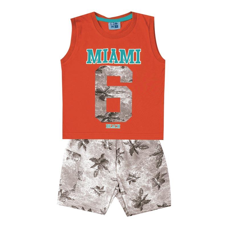 Conjunto DDK Infantil Menino Miami Laranja
