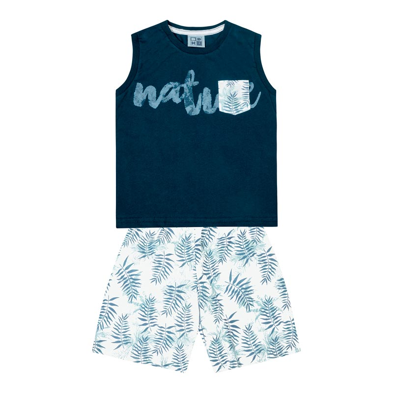 Conjunto DDK Infantil Menino Nature Azul